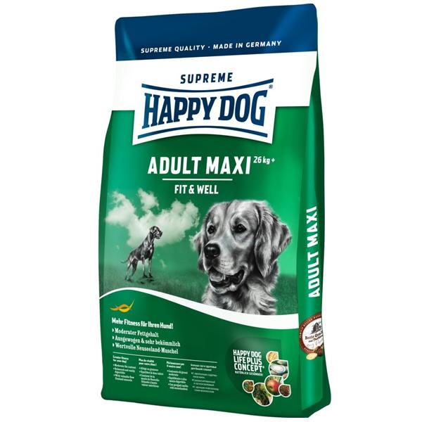Корм сухой Happy Dog Maxi Adult для собак крупных пород с птицей 4кг