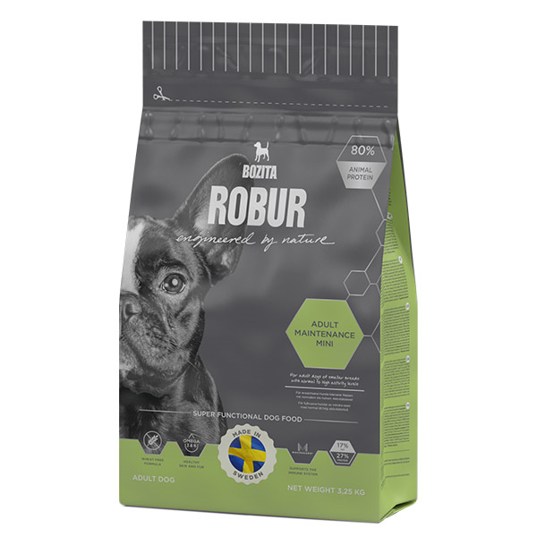 Корм сухой BOZITA ROBUR Adult Maintenance mini для взрослых собак средних и мелких пород с нормальным и высоким уровнем активности 3.25кг